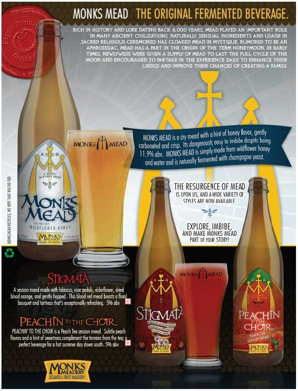 Monks Meadery Sales Sheet